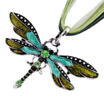 New Style, Rhinestone Dragonfly Necklace.