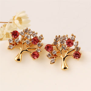 Gold Plated, Tree Shape Earrings