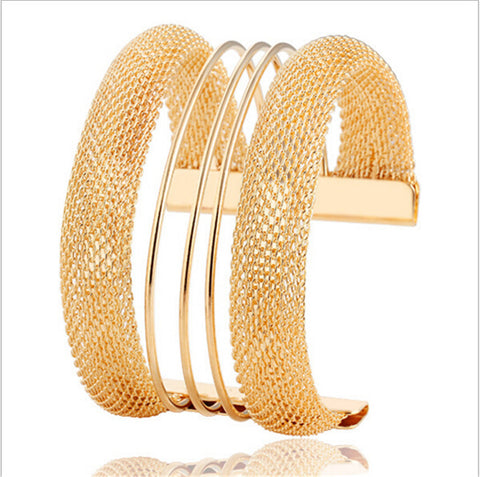 Gold Plated, Trendy Golden Bangle