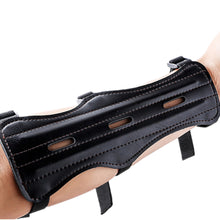 Cow Leather 3 Strap Archery Arm Guard Protection, Armband.