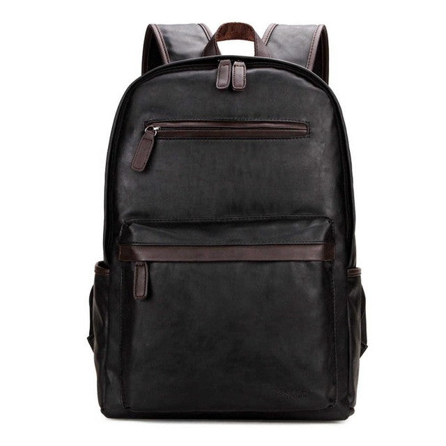 POLO Brand, Mens Leather Laptop Backpack / Casual / Daily packs For College, Heavy Duty / Trendy School Backpack.