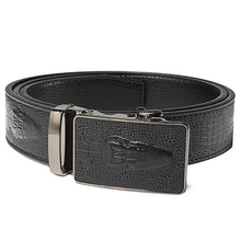 New 3 Colors PU leather Belt. Mens Crocodile Grain Pattern Automatic Buckle Famous Brand Belt.