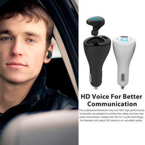 NEW 4 in 1 Wireless Bluetooth 4.0 Vehicle charger, USB Port, Lighter Connector, Earphone.