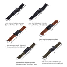 Sports / Outdoor Survival Strap With Compass, Thermometer, Whistle, and Scraper for 38/42mm.