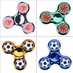 Luminous Plating Fidget Spinner. Toy Stress Reliever.