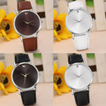 New Fashion Retro Design Leather Band Analog Alloy Quartz dress watch.