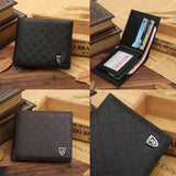 Mini Wallet Bifold Leather Card Holder.