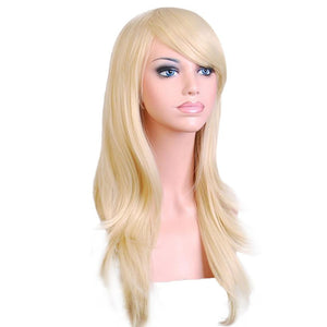 Long Wavy Layer Full Wig in many colors, Heat Resistant Synthetic Hair Wigs.