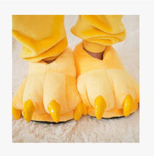 Cute Animal Slippers Paw for Men and Women. Winter Warm.