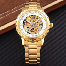 Luxury branded style steel automatic Skeleton mechanical Watch. Latest fashion with luxury quality.
