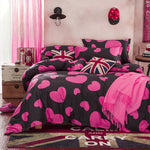Valentines Reactive printing Twin, Queen, King size bedding sets / bed sheet / duvet cover