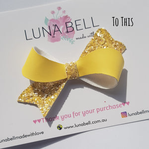 Uv Colour Change Bananarama Twist Bow