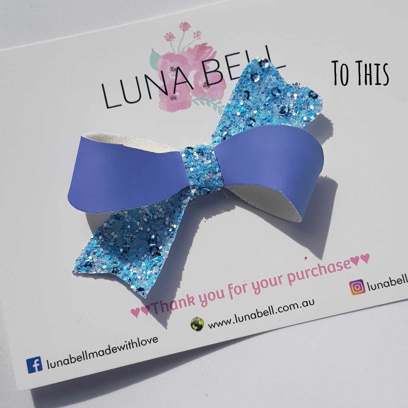 Uv Colour Change Blue Mist Twist Bow