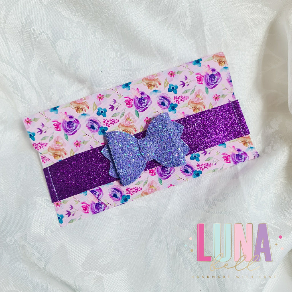 Pink And Purple Floral Madness Clutch Coin Purse