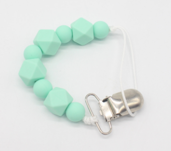 5.00 USD Aqua Green Aqua Green Pacifier & Teething Clip Taylord Baby %product_description%