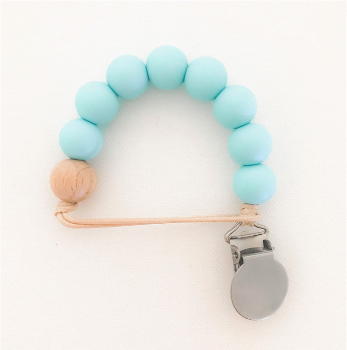 Light Turquoise Pacifier Clip