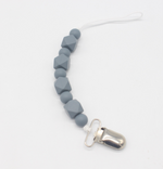 Dark Gray Pacifier & Teething Clip