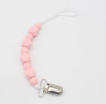 Baby Pink Pacifier & Teething Clip