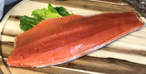 Full Side Fillet Alaskan Wild Caught Sockeye Salmon