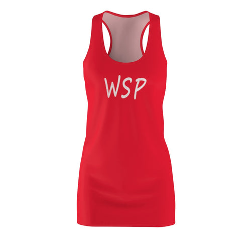 """WSP on Front/Swallow on Back"" Concert & Festival Women's Cut & Sew Racerback Dress"