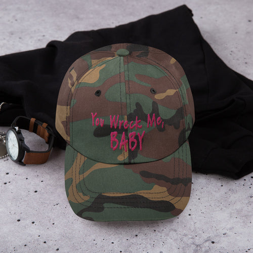 """You Wreck Me, Baby"" Embroidered Baseball Cap"