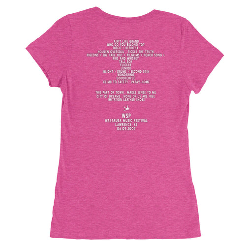 Widespread Panic Wakarusa Festival, 06/09/2007, Lawrence KS, Women's Setlist T-shirt