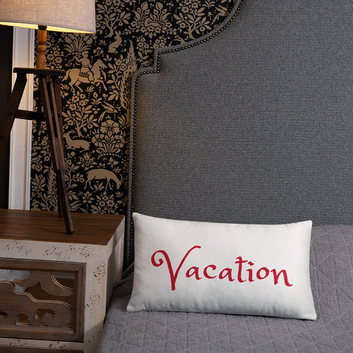 """Vacation"" Accent Pillow"