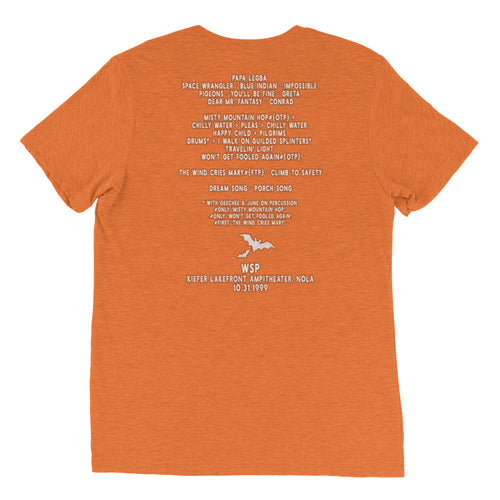 Widespread Panic Halloween, 10/31/1999, New Orleans LA, Men's Setlist T-shirt