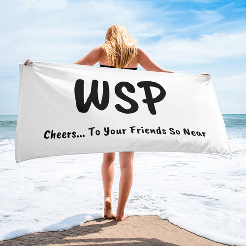 """Widespread Panic Cheers to Your Friends So Near"" Towel"