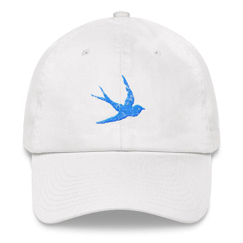 """Swallow"" Embroidered Baseball Cap"