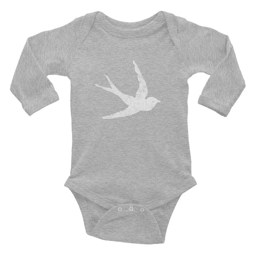 GypsyPanic Swallow Logo Infant Long Sleeve Bodysuit