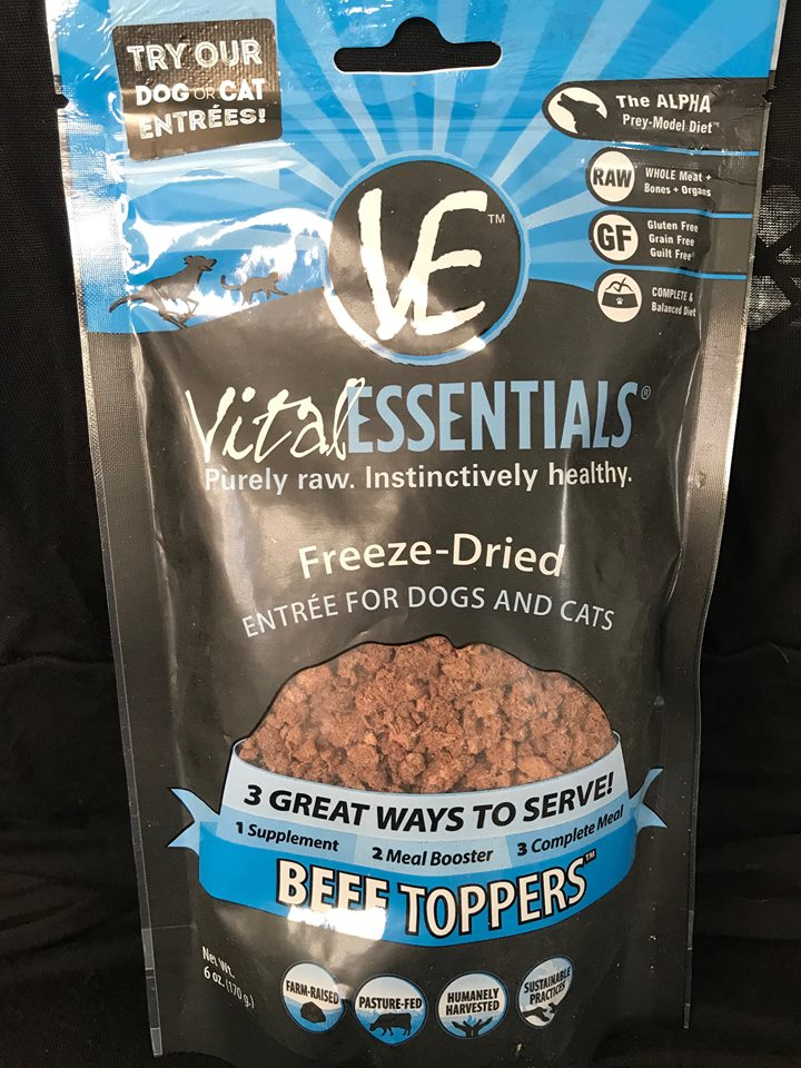 VitalEssentials Beef Topper Freeze Dried Entree Dog/Cat