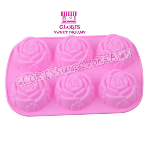 6 Rose Silicone Mold
