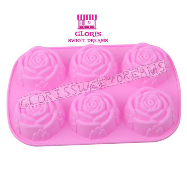 6 Roses Silicone Individual Mold