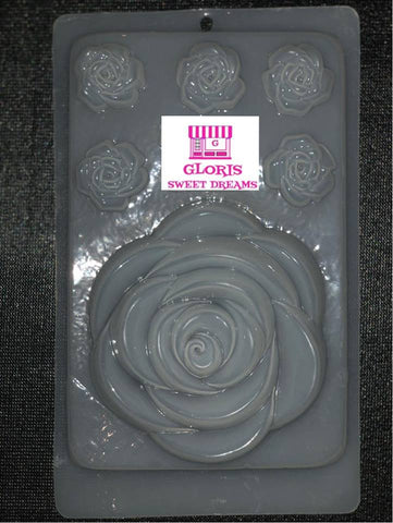 Mold Set of Roses - Molde Set de Rosas