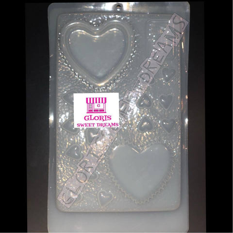 Box of Chocolate Heart Shaped - Caja para Gelatina Forma de Corazon