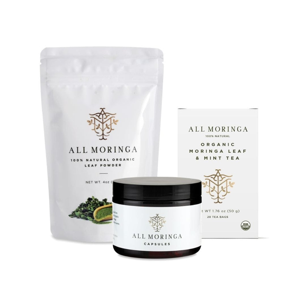 Nutritional All Moringa Products Bundle (Small size starter kit)