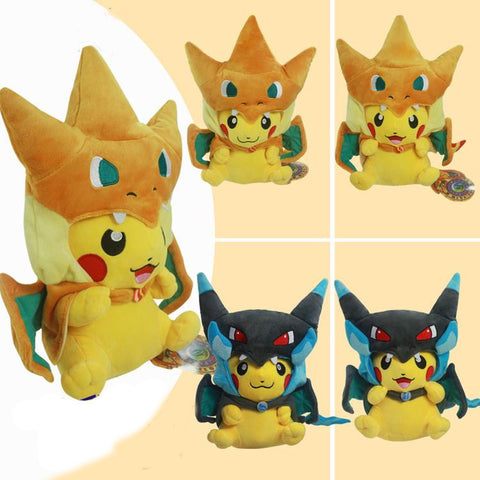Pikachu 2Pcs/lot 25cm Charizard X&Y Plush Toy