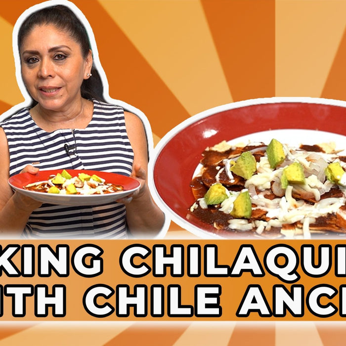 How To Make Chilaquiles Using Dried Chile Ancho Sauce - Recipe | Ole Rico