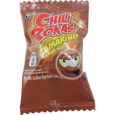 Jovy- Chili Rokas Tamarind Flavored Hard Candy 21 pcs - Ole Rico