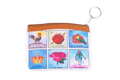 Loteria Single Zipper Mexican Bingo Wallet - Ole Rico