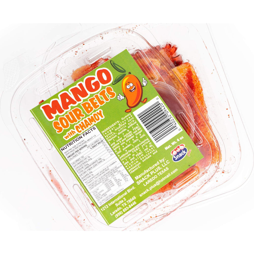 Snack Plus - Mango Sour Belts with Chamoy 4 oz - Ole Rico