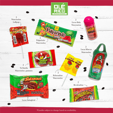 Watermelon Mexican Candy Assortment - Ole Rico