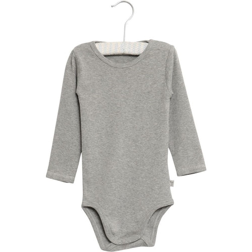 Wheat Bodysuit Long Sleeve - Melange Grey