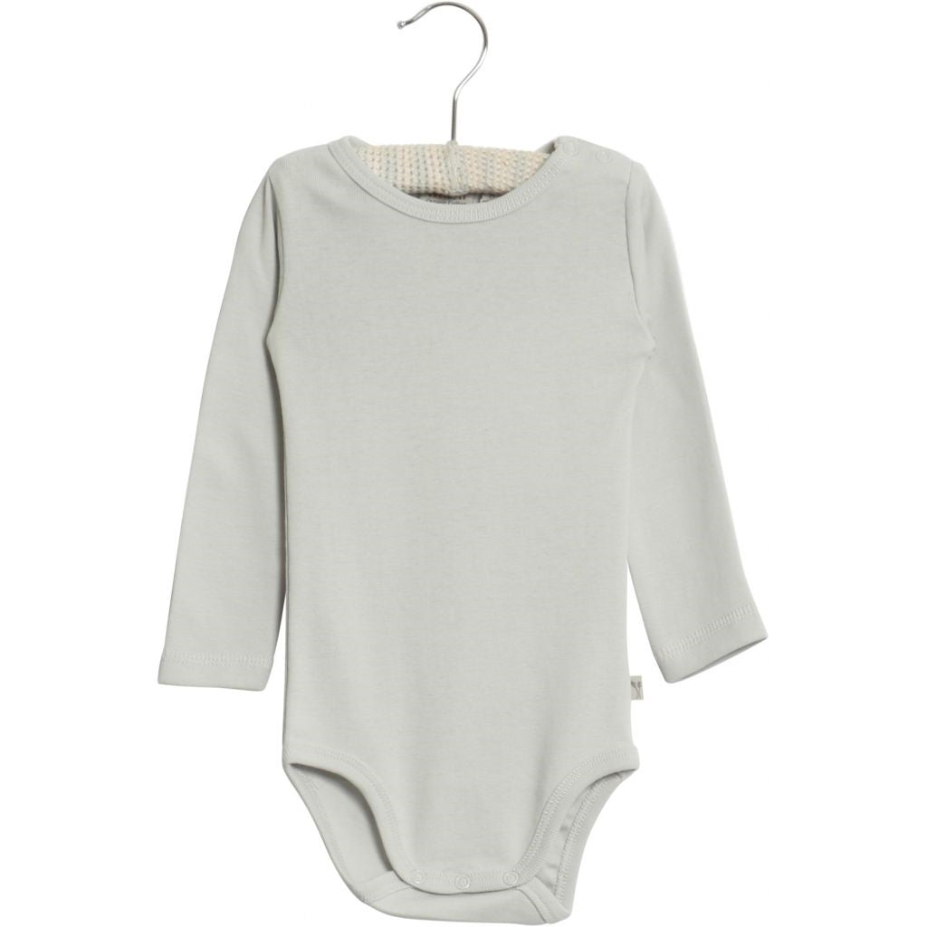 Wheat Bodysuit Long Sleeve - Baby Blue