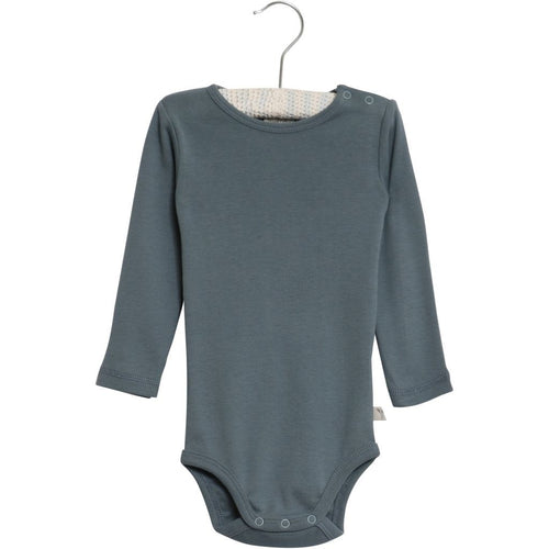 Wheat Bodysuit Long Sleeve - Blue