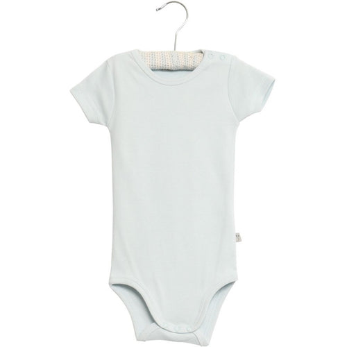 Wheat Bodysuit Short Sleeve - Baby Blue