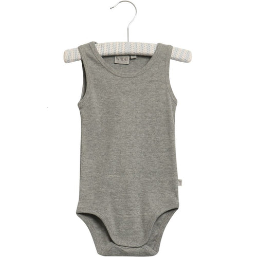 Wheat Bodysuit Sleeveless - Melange Grey