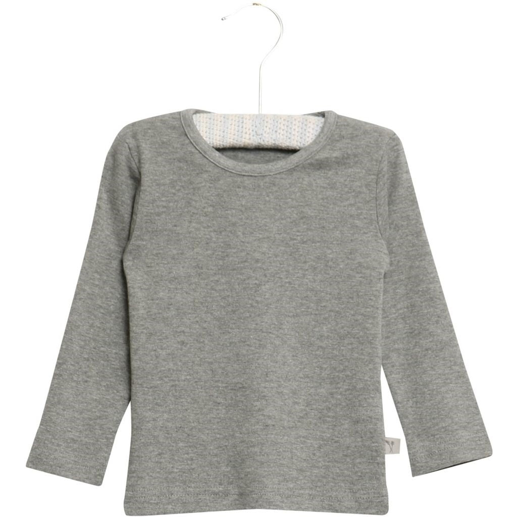 Wheat Basic Long Sleeve T-Shirt - Melange Grey