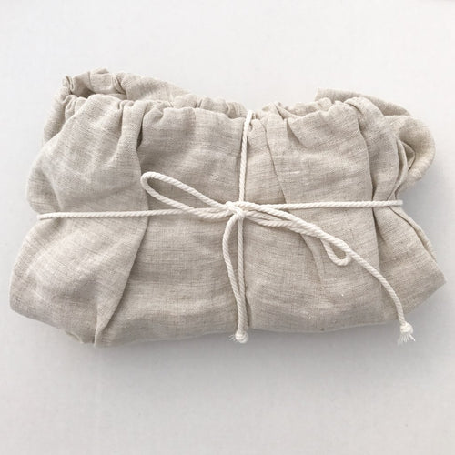 Dove & Dovelet Pure Linen Bassinet Fitted Sheet or Change Mat Cover - Natural